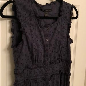 Marc By Marc Jacobs Skull Embroidered Navy Dress 6